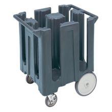 Cambro DC825191 Granite Gray Poker Chip Style Dish Caddy w/ 4 Columns