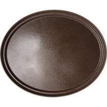 Carlisle® 2700GR076 Griptite™ 2 Tan Oval Tray