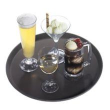 "Cambro® 1100CT138 Camtread® Tavern Tan 11"" Round Tray"
