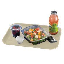 """Cambro 1216FF104 Desert Tan 12"""" x 16"""" Fast Food Tray - Dozen"""