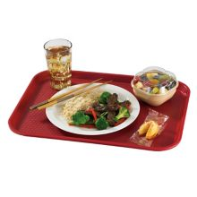 "Cambro® 1216FF416 Cranberry 12 x 16"" Fast Food Tray - Dozen"