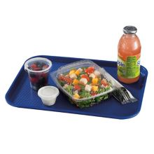 "Cambro® 1216FF186 Navy Blue 12 x 16"" Fast Food Tray - Dozen"
