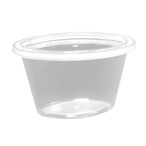 Pactiv E504 Ellipso™ Clear 4 Oz. Container With Lid - 500 / CS