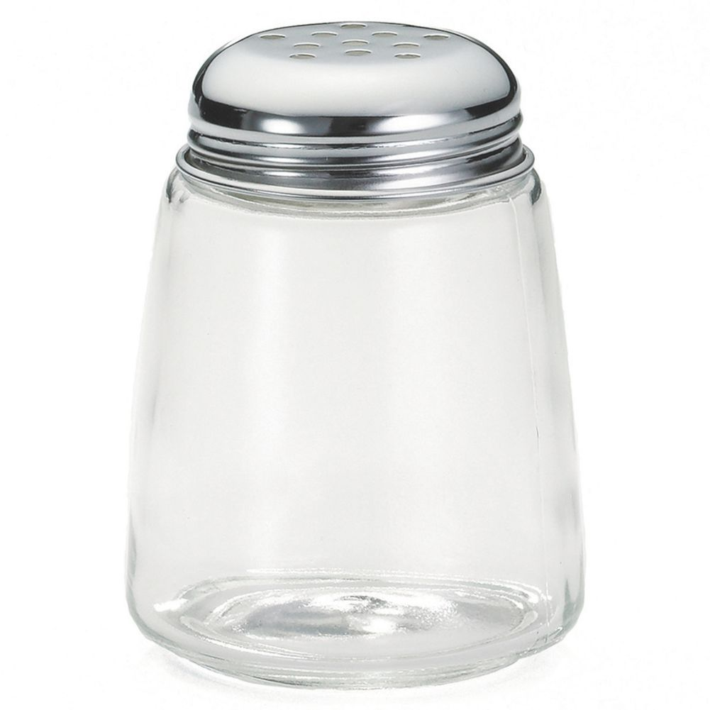TableCraft 261 Modern Glass 8 Oz. Shaker with Perforated Lid - 12 / CS