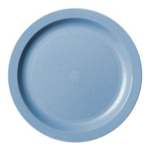 "Cambro 9CWNR401 Slate Blue Camwear Narrow Rim 9"" Plate - Dozen"
