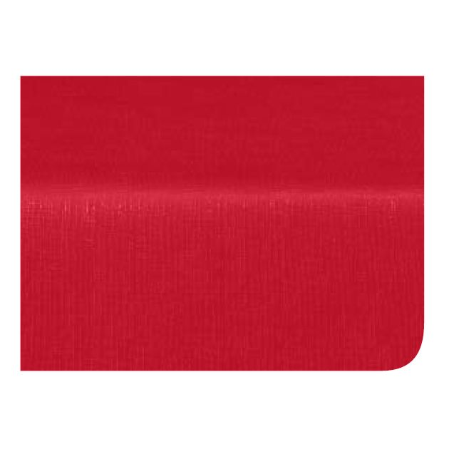 "Marko 51525252SM001 Classic Series 52"" Red Pearlized Linen Tablecloth"