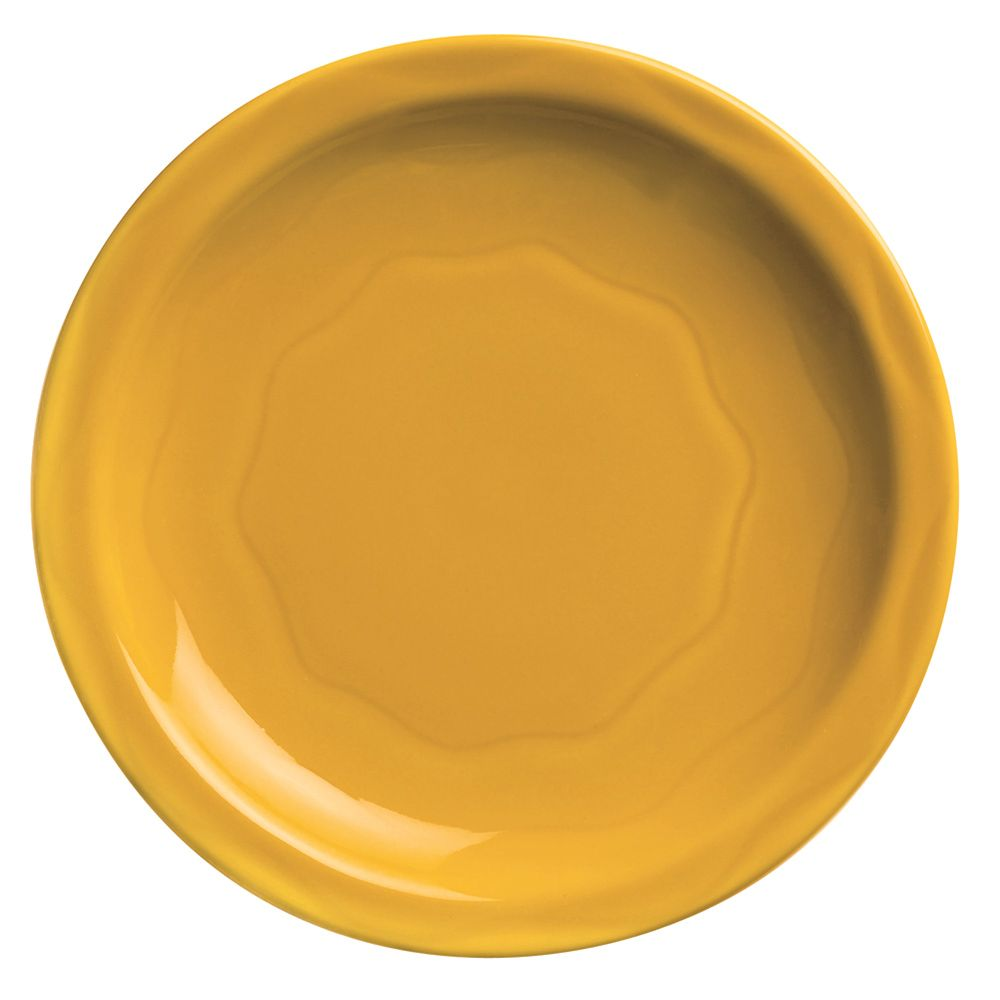 "Syracuse China 903033002 Cantina Saffron 11.38"" Plate - 12 / CS"