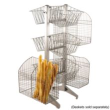 Dover Metals D-643S Steel / Pewter Look Multi Basket Stand