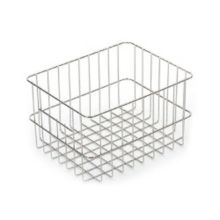 Nickel & Chrome-Plated Half-Size Basket, 9-1/8 x 11-11/16 x 5-3/4