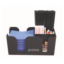 San Jamar® B400BK Black Plastic Bar Caddy
