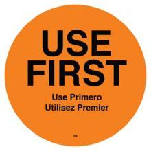 """DayMark 110358 DuraMark™ Round 2"""" Use First Label - 500 / RL"""