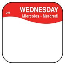 """DayMark 1100373 DissolveMark .75"""" Wednesday Day Square - 1000 / RL"""