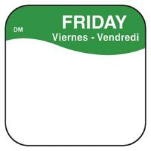 """DayMark 1100375 DissolveMark™ .75"""" Friday Day Square - 1000 / RL"""