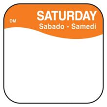 "DayMark 1100376 DissolveMark .75"" Saturday Day Square - 1000 / RL"