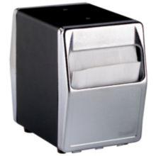 Traex 6509-06 Blk / Chrome 2-Sided Tabletop Napkin Dispenser