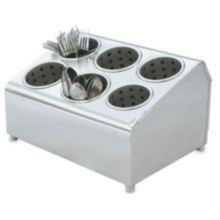 Vollrath® 97241 Silv-A-Tainer S/S 6-Hole Silverware Container