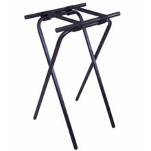 "CSL 1053BL 31"" H Deluxe Black Tubular Steel Tray Stand"