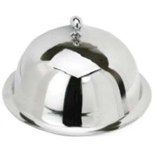 "Eastern Tabletop 9410 Stainless 10"" Dome Plate Cover with Finial"