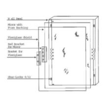 """Sentry Mirror R-2030-160P5 20"""" x 30"""" Plexi-Shield - 5 / PK"""