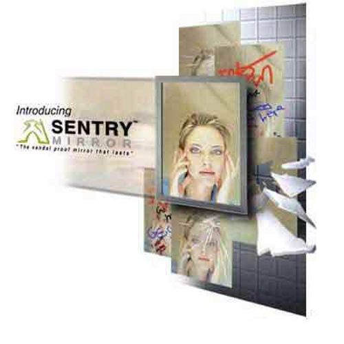 "Sentry Mirror™ SMS1836 18"" x 36"" Anti-Graffiti Mirror"