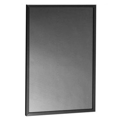 "Bobrick B-165 2430 Stainless 24"" x 30"" Channel Mirror"
