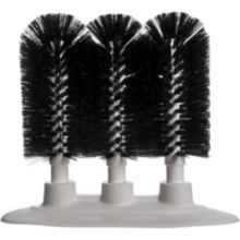 "Carlisle® 4046103 Sparta 8"" Black Triple Glass Washer Brushes"
