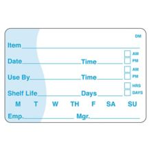 DayMark 110116 DissolveMark 2 x 3 Use By / Shelf Life Label - 125 / RL