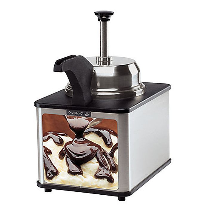 Server Products 81140-FUDGE Food Warmer With Pump & Spout Warmer