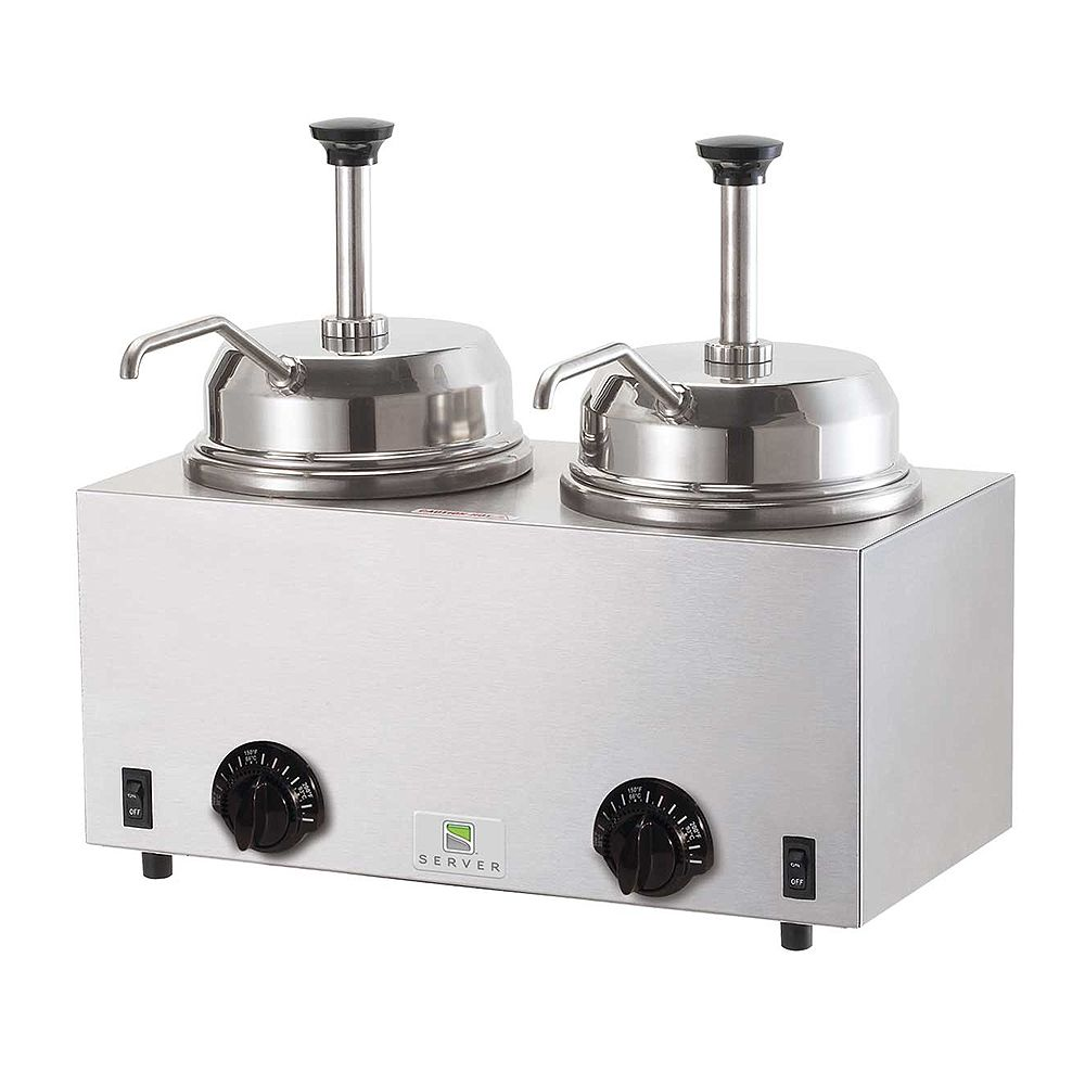 Server Products 81230 Twin Warmers With Pumps
