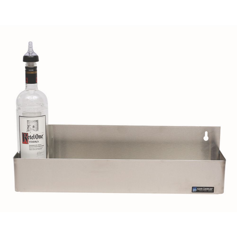 San Jamar® B5522 Stainless Steel 5-Bottle Single Rail Speed Rail