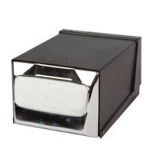 San Jamar® H3001BKC Chrome & Black Countertop Napkin Dispenser