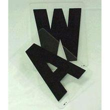 """Wagner Zip-Change® ZL08BKSSPN Solid 8"""" Black Letter N"""