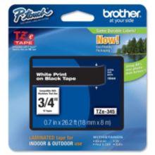 "Brother® BRTTZE345 White / Black 0.70"" TZ Lettering Tape"