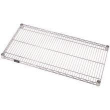 "ISS 1848C Chrome 18 x 48"" Wire Shelf with Plating Plus™"