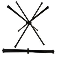"""Bugambilia WX04BB Black Wire 21"""" High Chopstix Stand"""