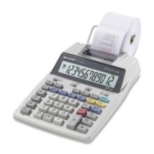 Sharp SHREL1750V White 12-Digit Printing Calculator