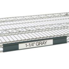 """Metro® 9990P5 55"""" Gray Label Holders For Super Erecta® Shelves"""