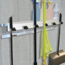"""Ex-Cell 333-6 WHT2 The Clincher™ 34"""" Mop And Broom Holder"""