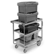 "Lakeside® 522 S/S HD 700 lb Capacity 18"" x 27"" 3-Shelf Cart"