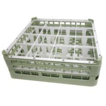 Vollrath 5271911 Light Green Full Size Tall 16 Compartment Glass Rack