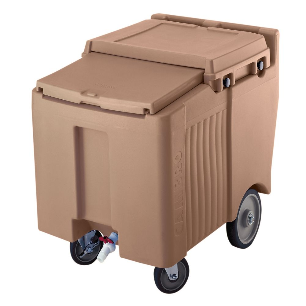Cambro ICS125L157 SlidingLid Coffee Beige Standard 125 Lb. Ice Caddy