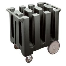 Cambro DC575110 Black Poker Chip Style Dish Caddy with 6 Columns