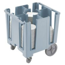 Cambro DCS950401 Slate Blue Poker Chip Style Dish Caddy with 4 Columns