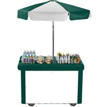 Cambro CVC55519 Kentucky Green Compact Camcruiser® Vending Cart