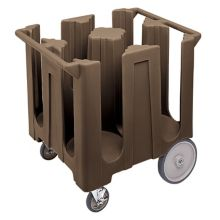 Cambro DC1225131 Dark Brown Poker Chip Style Dish Caddy with 4 Columns