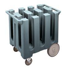 Cambro DC575191 Granite Gray Poker Chip Style Dish Caddy w/ 6 Columns