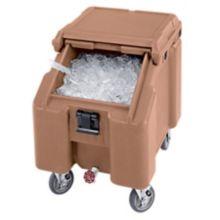 Cambro ICS100L157 SlidingLid Coffee Beige Slant Top 100 Lb. Ice Caddy