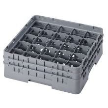 Cambro 25S534151 Camrack® Soft Gray 25-Compartment Glass Rack