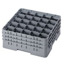 Cambro 25S738151 Camrack® Soft Gray 25-Compartment Glass Rack
