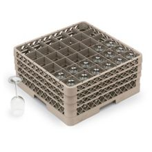 Traex® TR7CCC Beige 36 Compartment Glass Rack with 3 Extenders